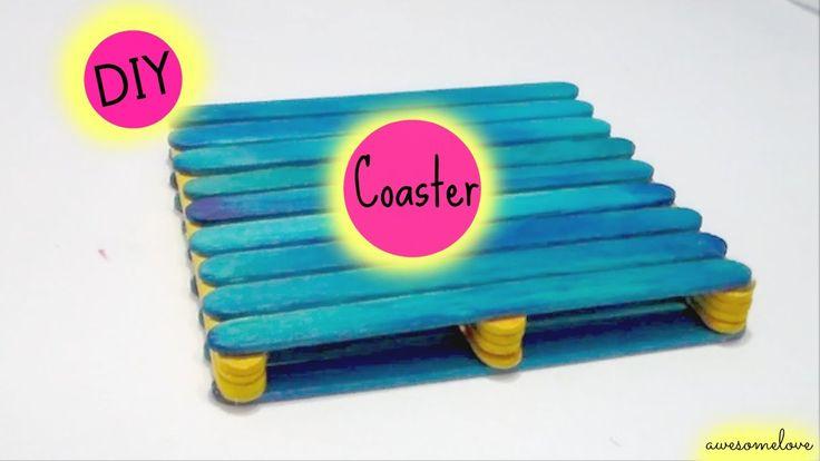 popsicle sticks coaster  https://www.youtube.com/watch?v=jvdt4p7jQCU