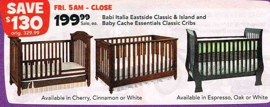 Babi Italia Eastside Classic Amp Baby Cache Essentials Classic Cribs At Toysrus Black Friday 2012