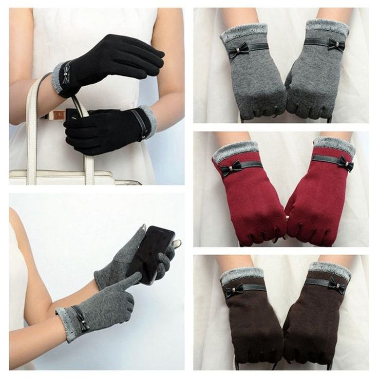 Cute Women's Mittens Touch Screen Winter Outdoor Driving Wrist Lady Gloves ❤ #Unbranded #WinterGloves