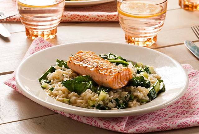 Zalm Risotto Met Spinazie recept | Smulweb.nl