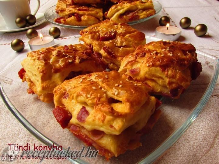 Hagymás-kolbászos-sajtos stangli recept | Receptneked.hu ( Korábban olcso-receptek.hu)