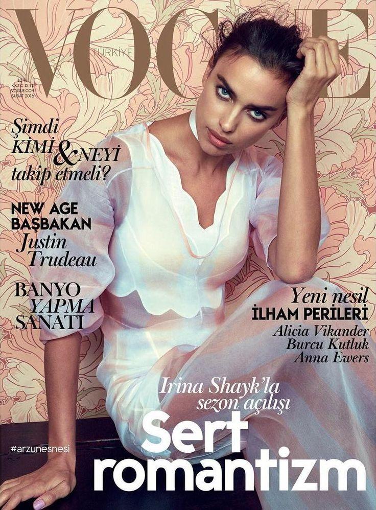 Irina Shayk pose for Vogue Turkey magazine February 2016 Cover