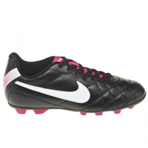 SALE - Nike Tiempo Rio FG-R Soccer Cleats Kids Black Leather - Was $24.99 - SAVE $5.00. BUY Now - ONLY $19.99
