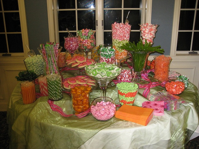 Sherbet-colored candy buffet - perfect for a Lilly-themed party.