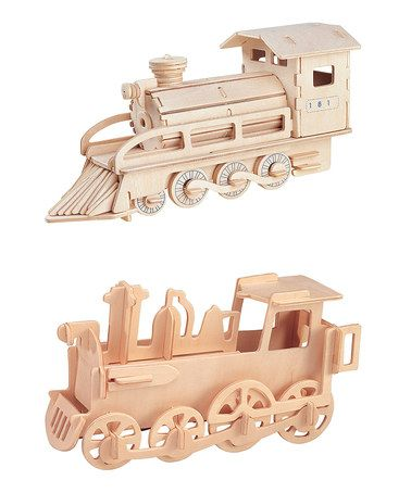 Love this 3-D Train Puzzle Set by Puzzled on #zulily! #zulilyfinds