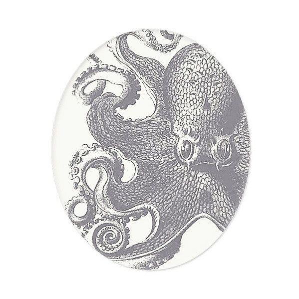 Inspired by traditional motifs used in ancient China, this New York City artist has re-imagined a vintage-style octopus as regal piece of home décor. The tray offers an elegant look at this mysterious ...  Find the Elegant Octopus Tray, as seen in the The Sailors' Saloon Collection at http://dotandbo.com/collections/the-sailors-saloon?utm_source=pinterest&utm_medium=organic&db_sku=THP0019