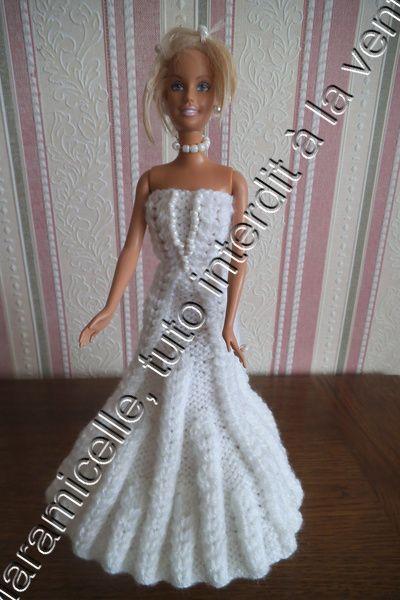 tuto gratuit barbie : robe de mariée -