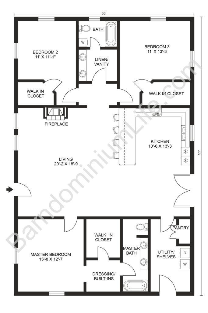 Inspiring Open Concept Barndominium Floor Plans In 2020 Barndominium Floor Plans Simple Floor Plans Floor Plans