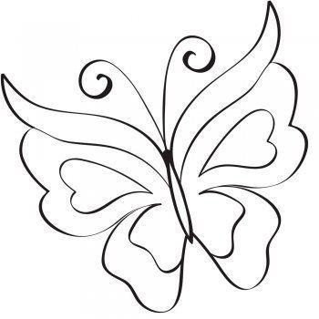 Schmetterling zu drucken
