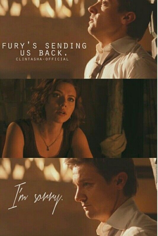 Fury's sending us back || Clint Barton, Natasha Romanoff || 533px × 794px || #fanedit #clintasha
