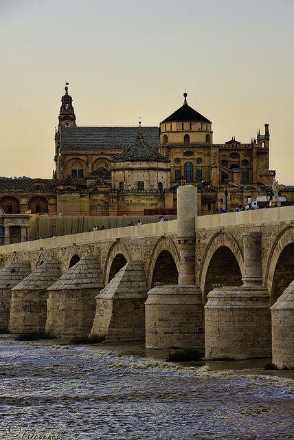 El puente romano - Córdoba, España The Roman Bridge - Cordoba, Spain
