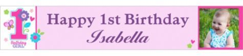Sweet Birthday Girl Custom Photo Banner - Custom 1st Birthday Banners - 1st Birthday - Birthday Party Supplies - Party City