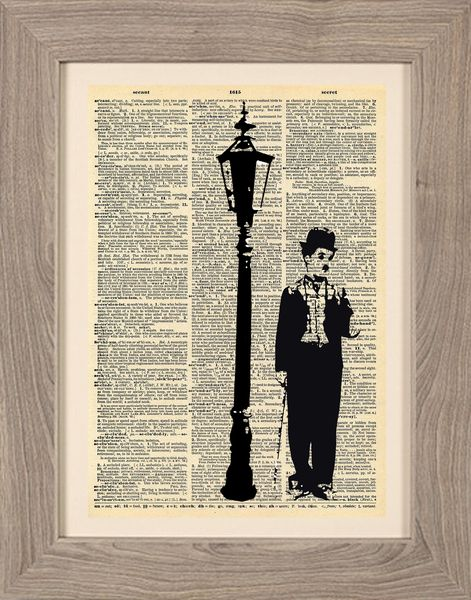 Cinematic - Stampa Charlie Chaplin di Framenti Design su DaWanda.com