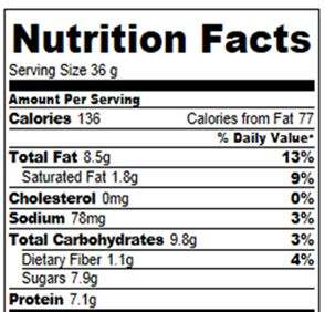 Weight Watchers Points Plus: 4 Nutrition information is based on gram measurements for six bars. (Each bar will have even …