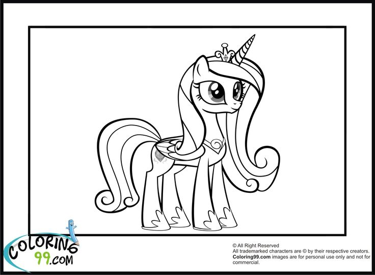my little pony coloring pages princess cadence - my little pony princess coloring pages princess cadence