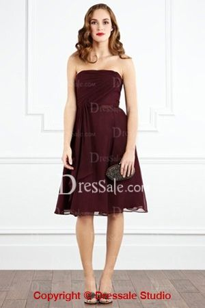 Floaty Bridesmaid Dress with Ribbon and RuchesCOLOR OPT