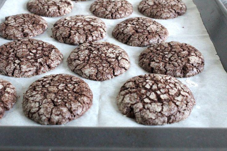 Chocolade crinkle koekjes