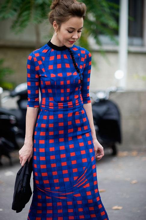 bold graphic print dress: Graphic Prints, Fashion Style, Bold Prints, Blue Eyes, Bold Colors