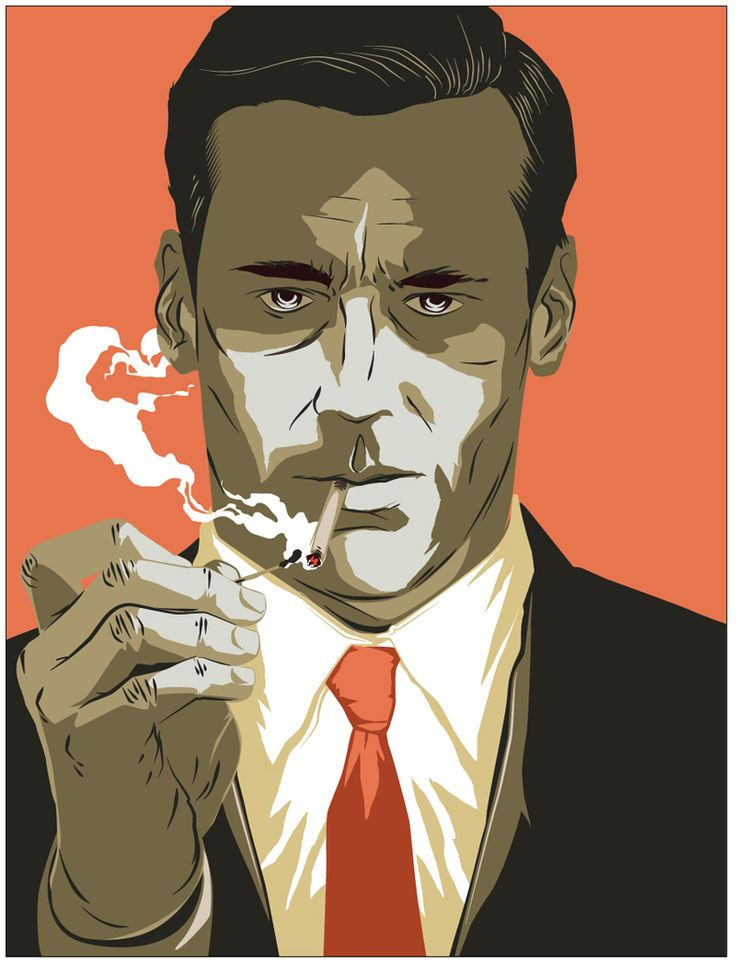 Matt Taylor Don #Draper for TimeOut #MadMen #TV #illustration #art