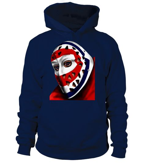 # Retro Montreal Hockey Goalie Mask Hoodie .  Stay ahead of the style curve this season with this throwback Montreal hockey goalie custom hi-res digital art image available in all team colors on your favorite apparel item, such as hoodie, sweatshirt or t-shirt. Whether at the arena, on the ice or at home, proudly wear and show off this stunningly unique apparel sportswear item.