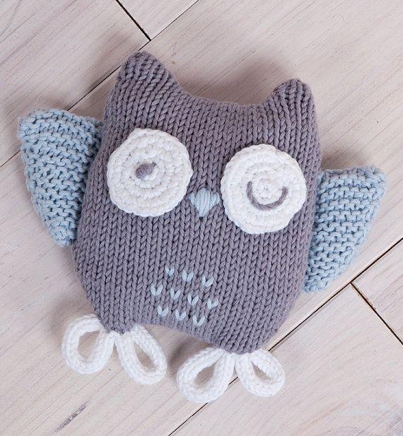 Baby Owl Plushie, Soft Toy, Knit Owl, Baby Knit Toy, Owl toy on Etsy, $14.00