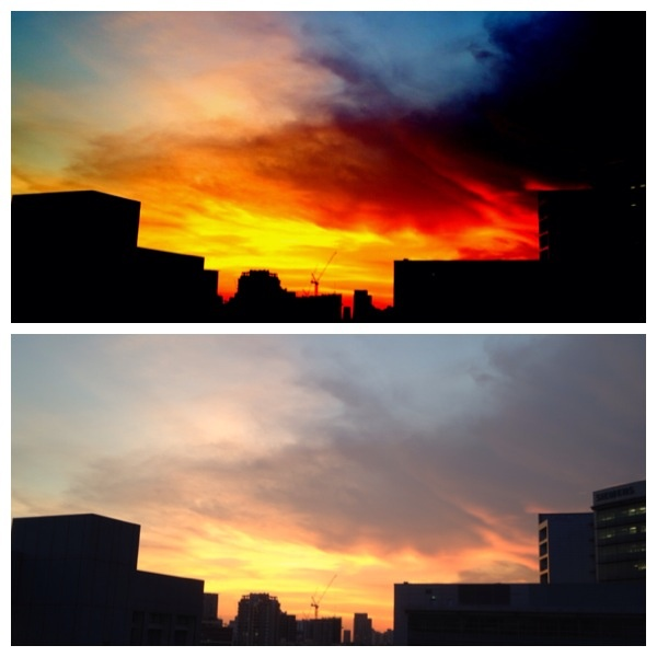 Before and after edition.... #sunset #sky