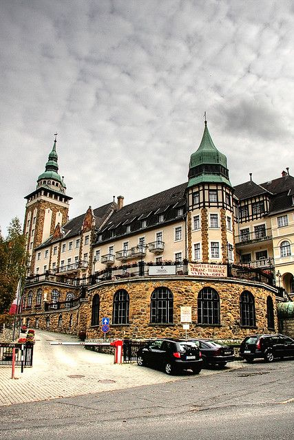 The famous Palotaszálló hotel in Lillafüred, Miskolc_ Hungary - in the heart of the Bükk mountains.