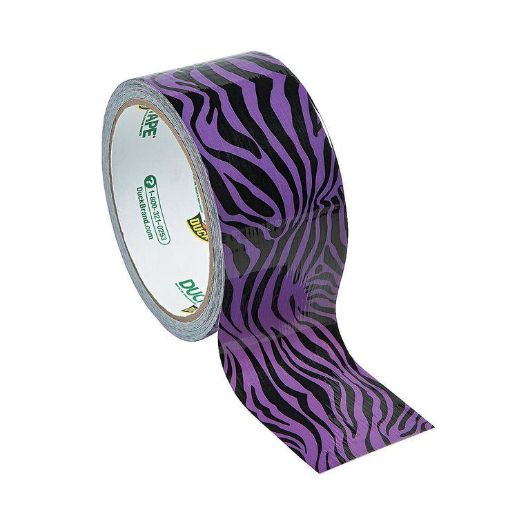 Purple Zebra Print Duck Tape Duct Tape - OrientalTrading.com