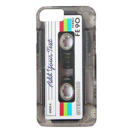 Funny Vintage 80s Retro Music Cassette Tape iPhone 7 Case - tap, personalize, buy right now!