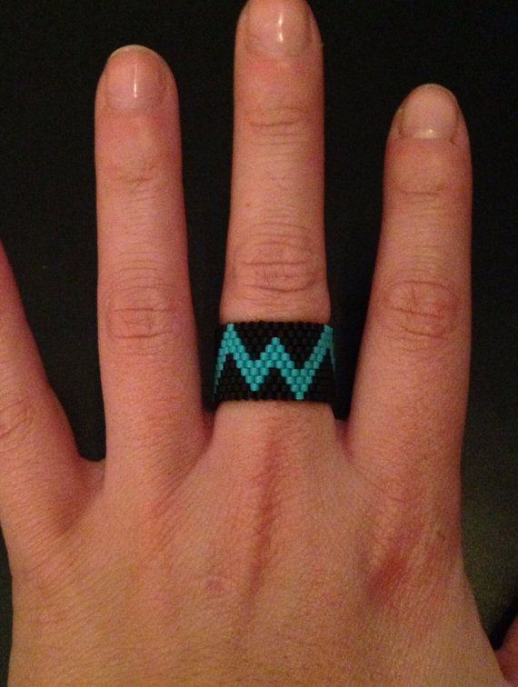 Handmade Chevron Ring by ClaireElizabethB on Etsy, $25.00