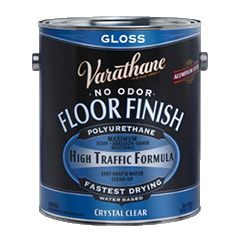 Achieve ultimate durability—in a water base—with Rust-Oleum® Varathane® Crystal Clear Floor Finish. Thanks to patented Aluminum Oxide Nano Technology, this polyurethane outperforms leading brands with maximum adhesion resistance in high-traffic areas. Maximum scuff and scratch resistance