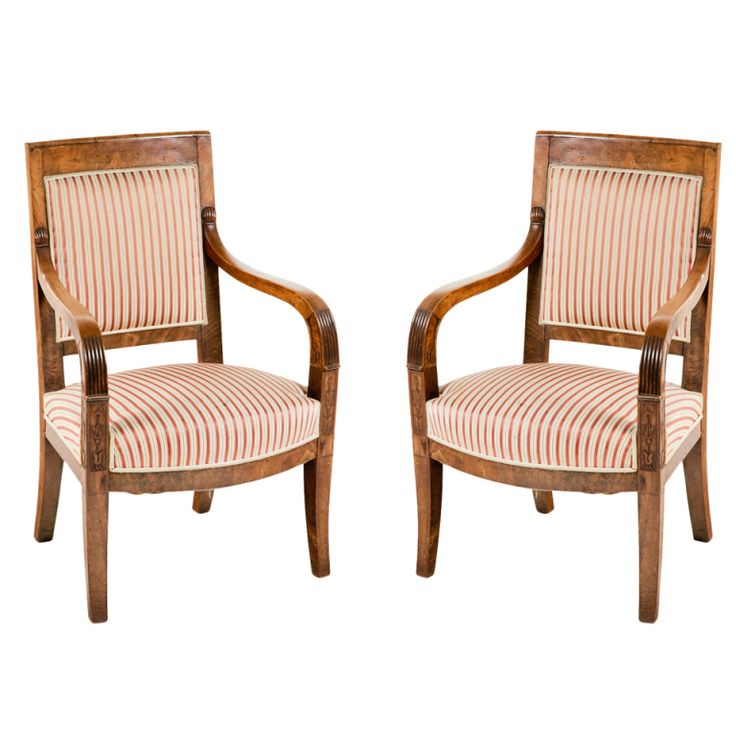 Italian Empire Walnut Chairs