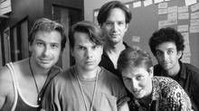 The Kids and the Hall in their younger days, from left, Scott Thompson, Bruce McCulloch, Mark McKinney, Dave Foley and Kevin McDonald, (Erik Christensen/The Globe and Mail)