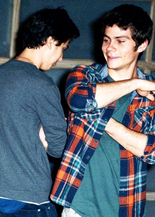 My two favorite people. Nat Wolff and Dylan O'Brien.