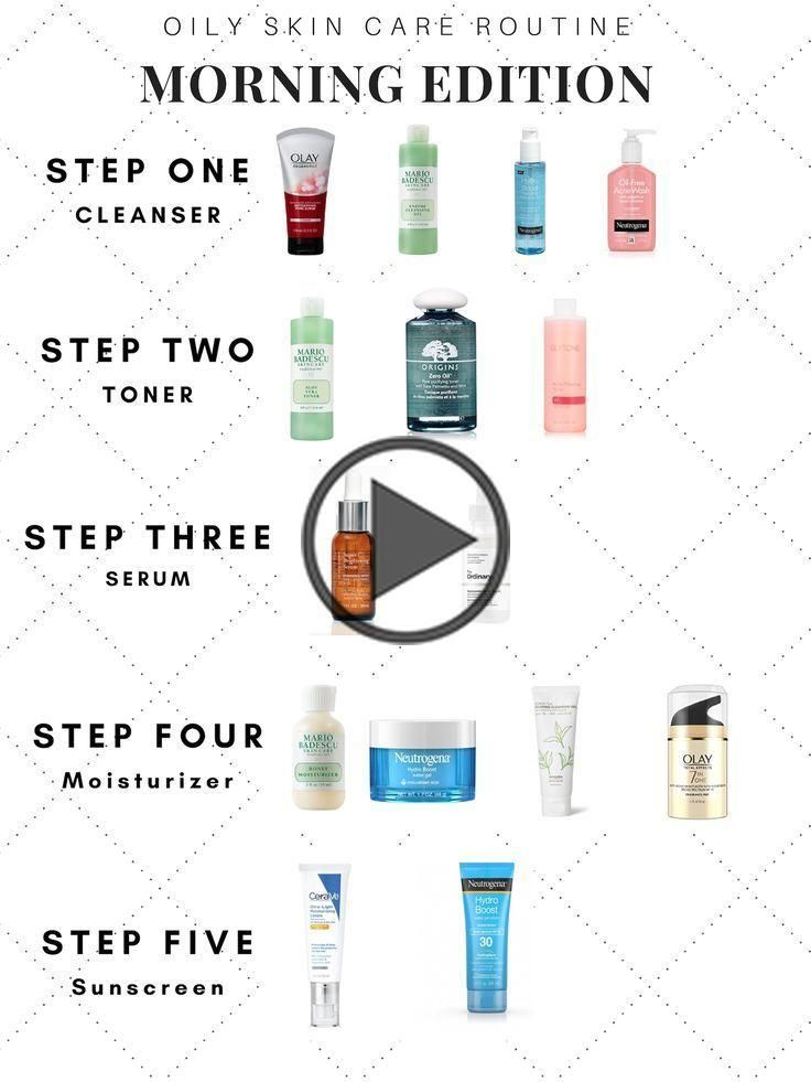 Morning Oily Skin Care Routine Step By Step Skin Care Guide With Affordable Healthy Products Peelofffa In 2020 Oily Skin Care Routine Skin Care Guide Oily Skin Care