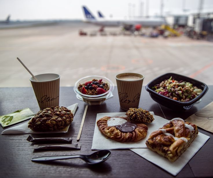 Traditional Danish Pastry, a protein salad, bread with cheese, hot coffee... Lagkagehuset at Copenhagen Airport is worth a visit if you love the Danish feeling combined with a nice view.