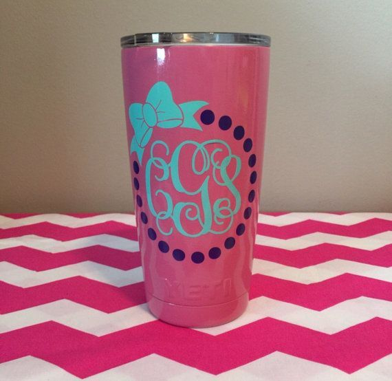 Best Yeti Images On Pinterest Vinyl Decals Monogram Cups And - Vinyl for cup