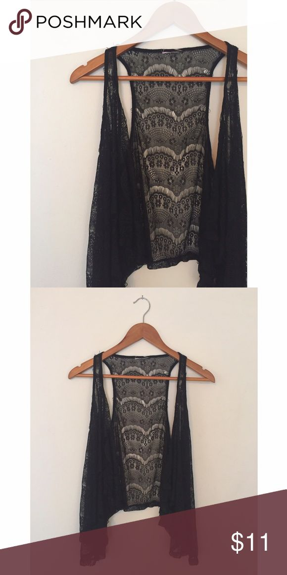 Black Lace Vest Black Lace Vest. Tag missing but I believe it is from Forever 21. Size S/M. Forever 21 Jackets & Coats Vests