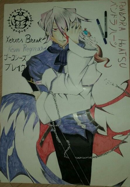 Here it is my biiiig drawing of Xerxes Break/Kevin Regnard from Pandora Hearts. Hope you like it ^.^