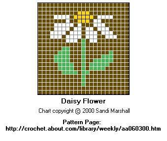 Daisy Color Chart for Cross-Stitch For my Bee keepers hexi-puff