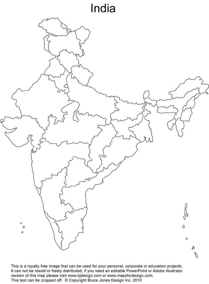 41 best map of india with states images on pinterest cards maps india outline map printable thecheapjerseys Image collections