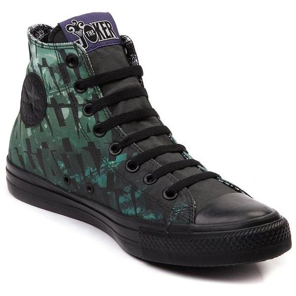 Converse Chuck Taylor All Star Hi Joker Sneaker ($99) ❤ liked on Polyvore featuring shoes, sneakers, hi tops, sport shoes, lacing sneakers, lace up sneakers and star sneakers