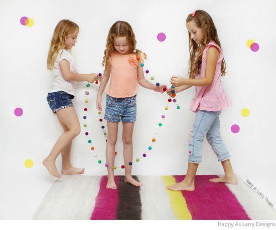 Bondville: Stripe felt wool rugs for kids rooms from Happy As Larry Designs