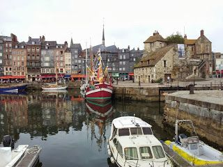 Honfleur - one of the beautiful ancient towns on the coast of Normandy