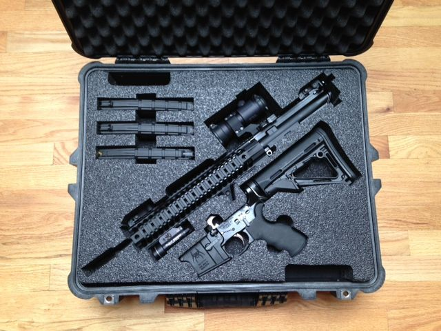Custom Foam for a Pelican Case for a Spike's Tactical AR  Custom Foam  AR  Pelican Cases