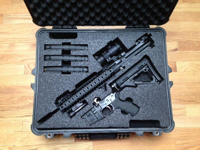 Custom Foam for a Pelican Case for a Spike's Tactical AR  Custom Foam  AR  Pelican Cases
