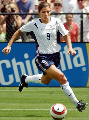 Mia Hamm - grew up wanting to play like mia! she is my idol! I always wore #9 b/c of her! Pure Talent!