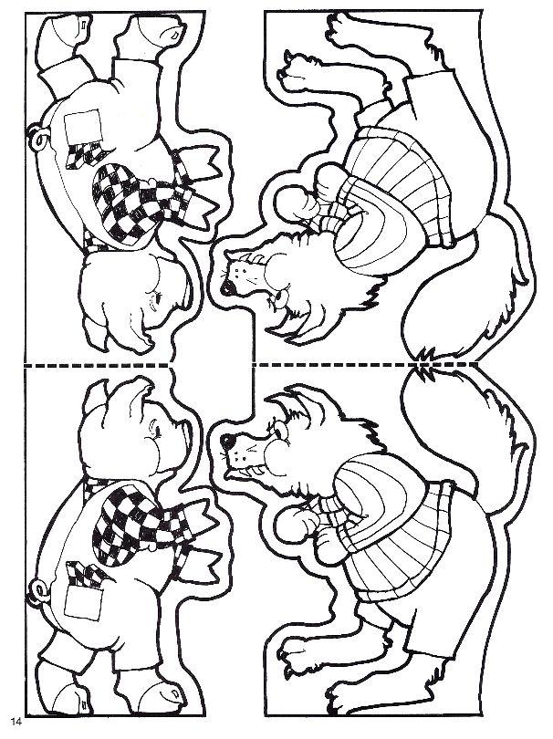 PARAÍSO DO EDUCANDO: Personagens para Teatro Três Porquinhos