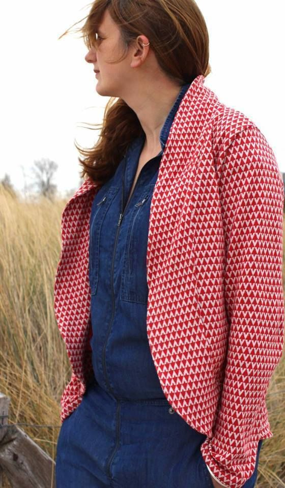 Schnittmuster / Ebook lillesol women No.29 Cardigan mit Schalkragen/ Nähen Strickjacke / Damen // Sewing pattern Cardigan