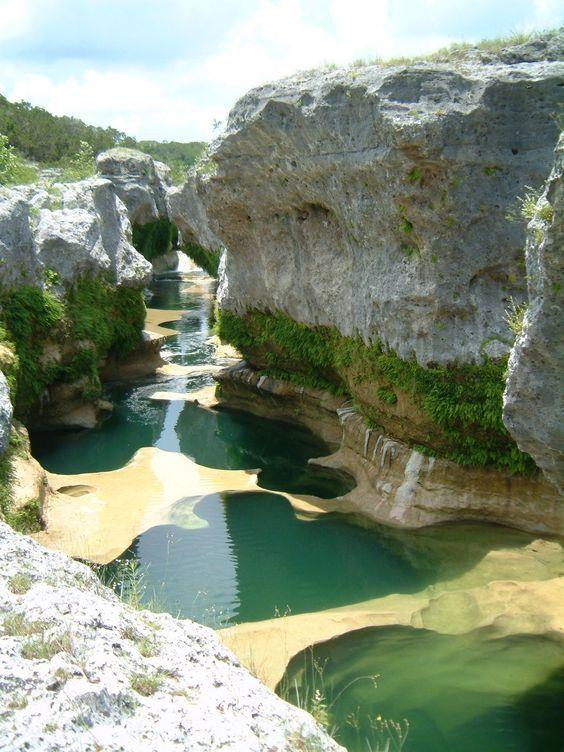 Central Texas Natural Pools, Lake Travis, Austin,Texas, USA